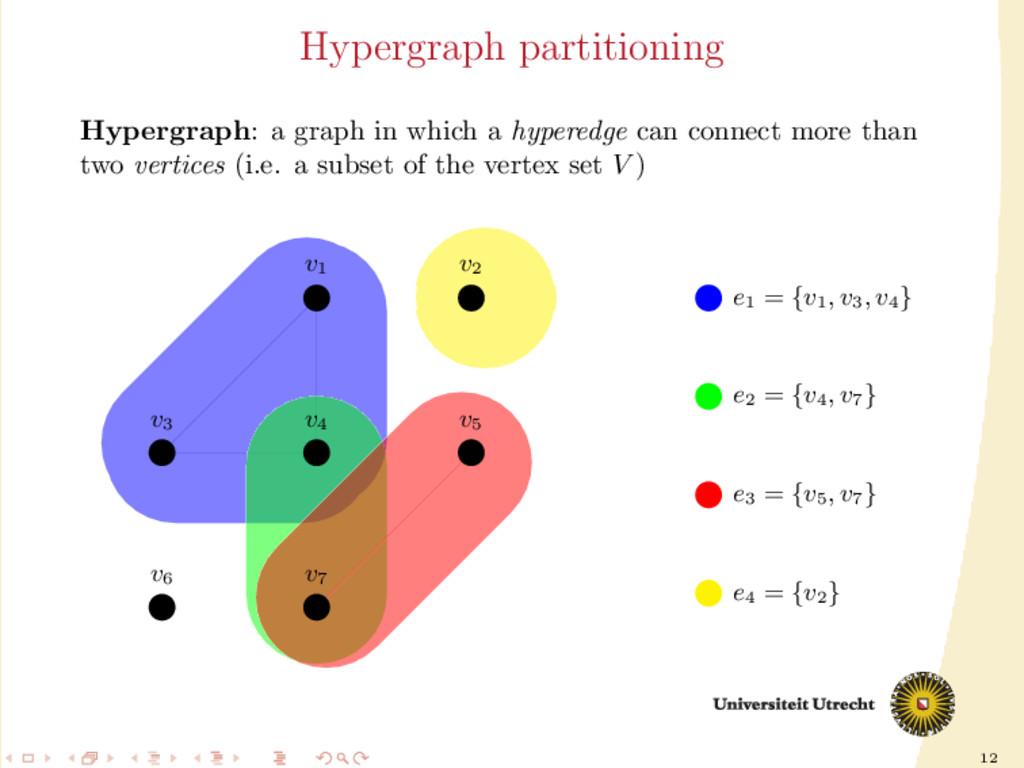 12 Hypergraph partitioning Hypergraph: a graph ...