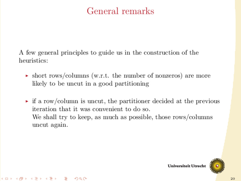 20 General remarks A few general principles to ...