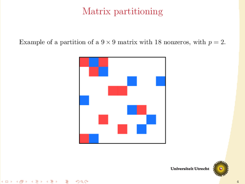 4 Matrix partitioning Example of a partition of...