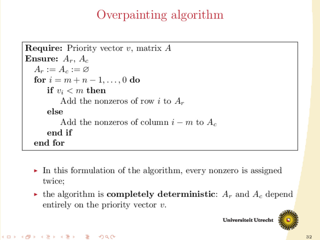 32 Overpainting algorithm Require: Priority vec...