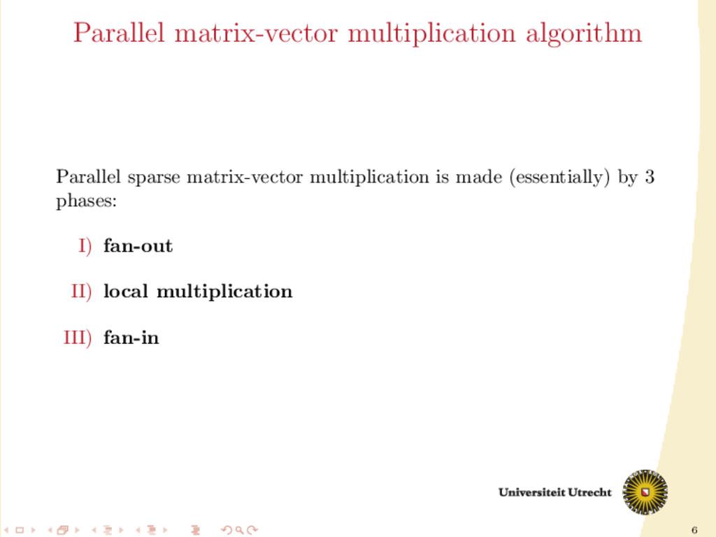 6 Parallel matrix-vector multiplication algorit...