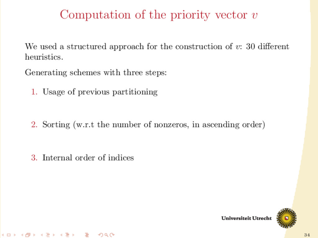 34 Computation of the priority vector v We used...