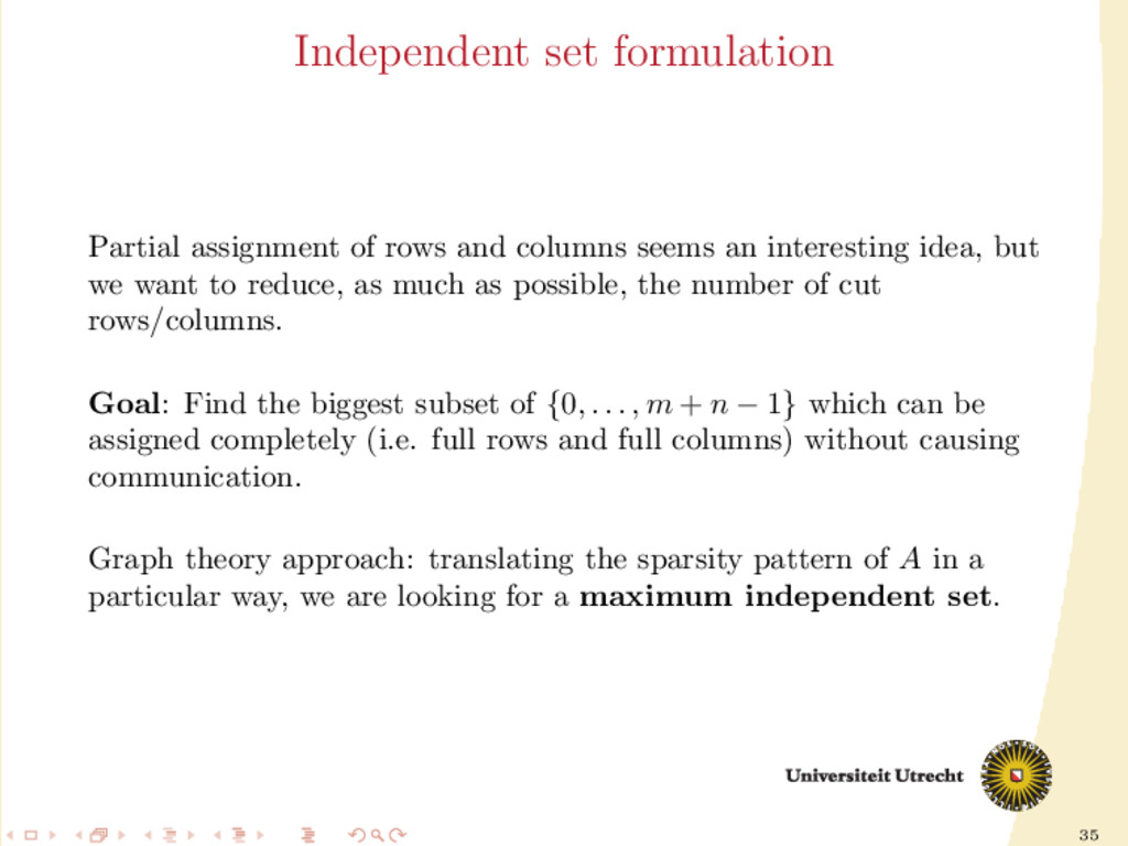 35 Independent set formulation Partial assignme...