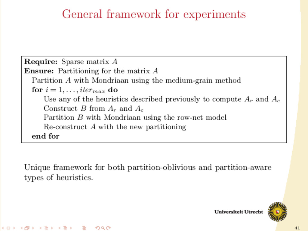 41 General framework for experiments Require: S...