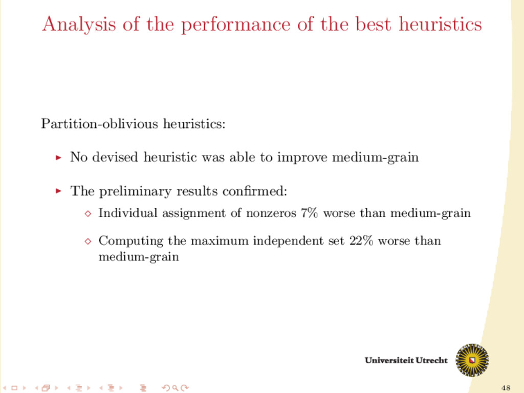 48 Analysis of the performance of the best heur...