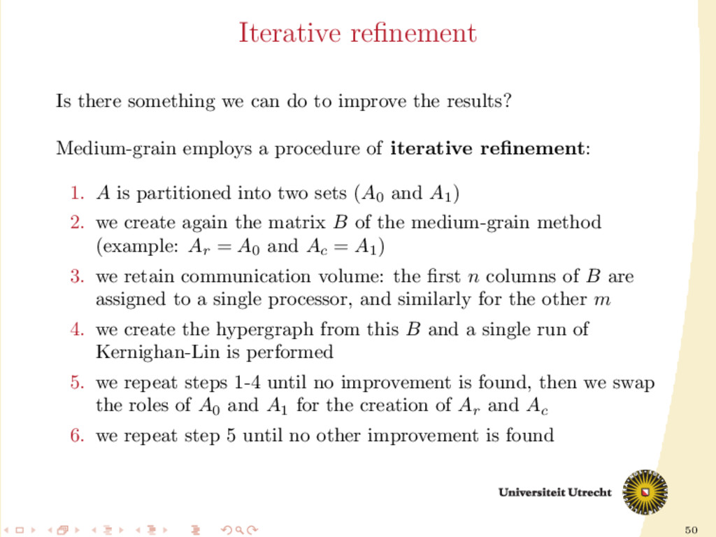 50 Iterative refinement Is there something we ca...