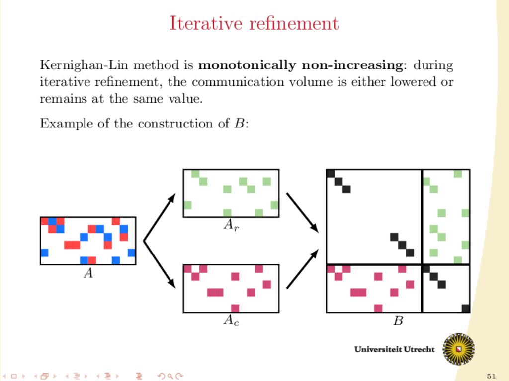 51 Iterative refinement Kernighan-Lin method is ...