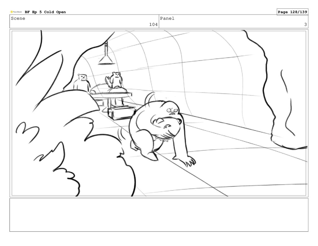 Scene 104 Panel 3 BF Ep 5 Cold Open Page 128/139