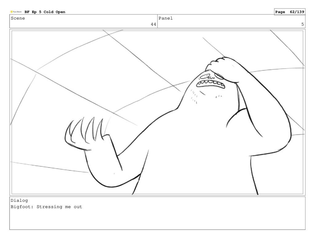 Scene 44 Panel 5 Dialog Bigfoot: Stressing me o...