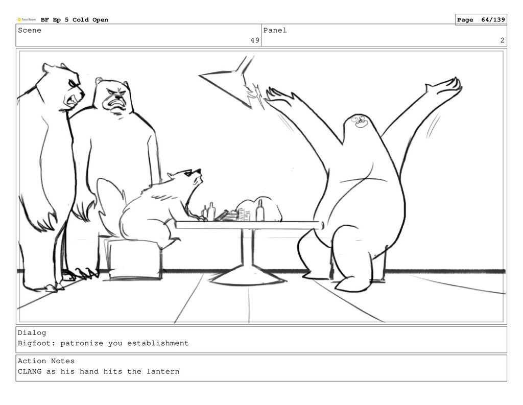 Scene 49 Panel 2 Dialog Bigfoot: patronize you ...