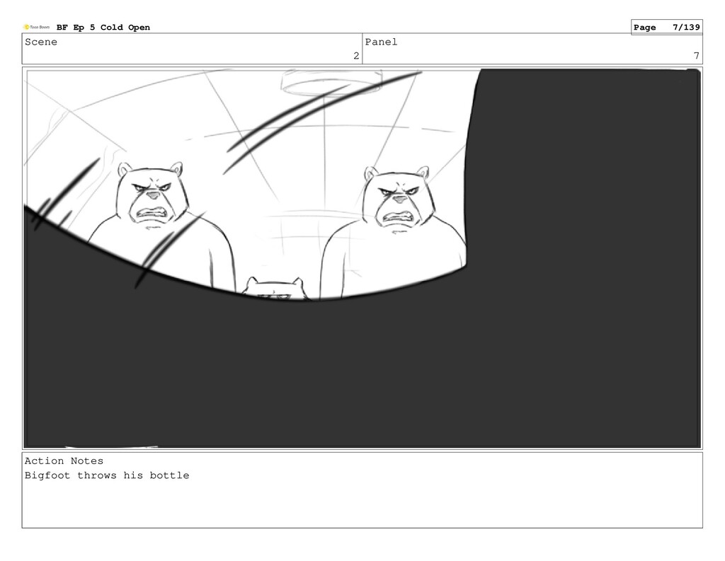 Scene 2 Panel 7 Action Notes Bigfoot throws his...