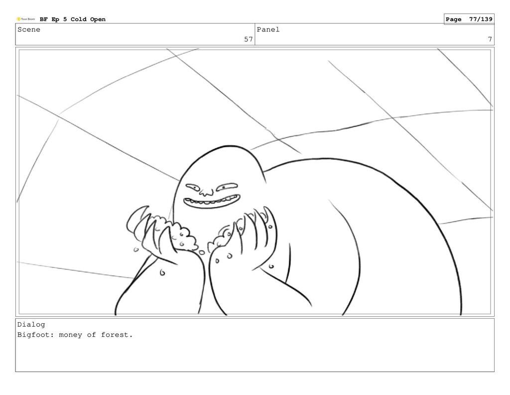 Scene 57 Panel 7 Dialog Bigfoot: money of fores...