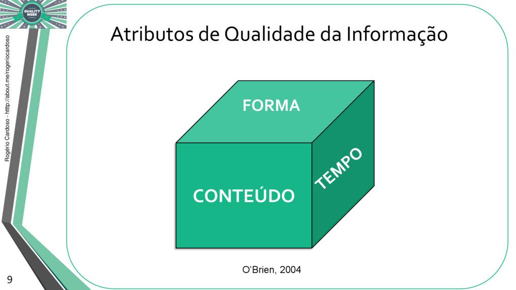 Atributos de Qualidade da Informação Rogério Ca...