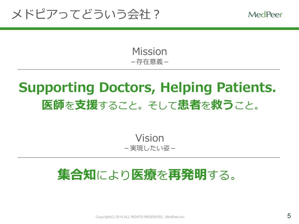 5 メドピアってどういう会社? Supporting Doctors, Helping Pat...