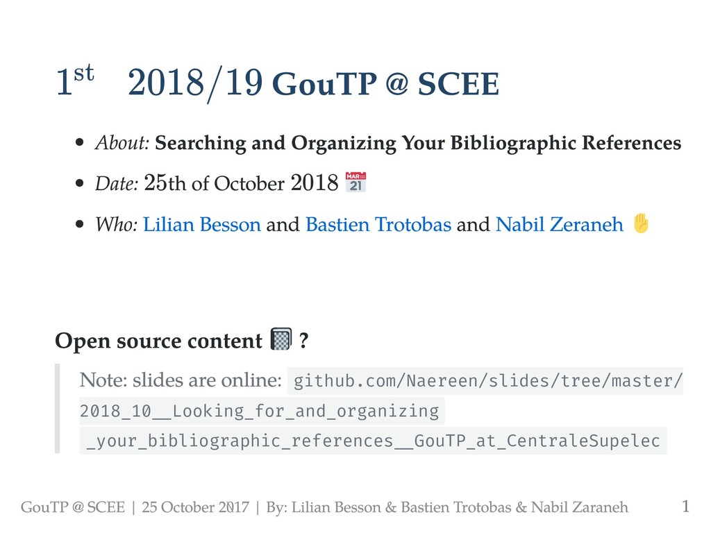 1 2018/19 GouTP @ SCEE About: Searching and Org...