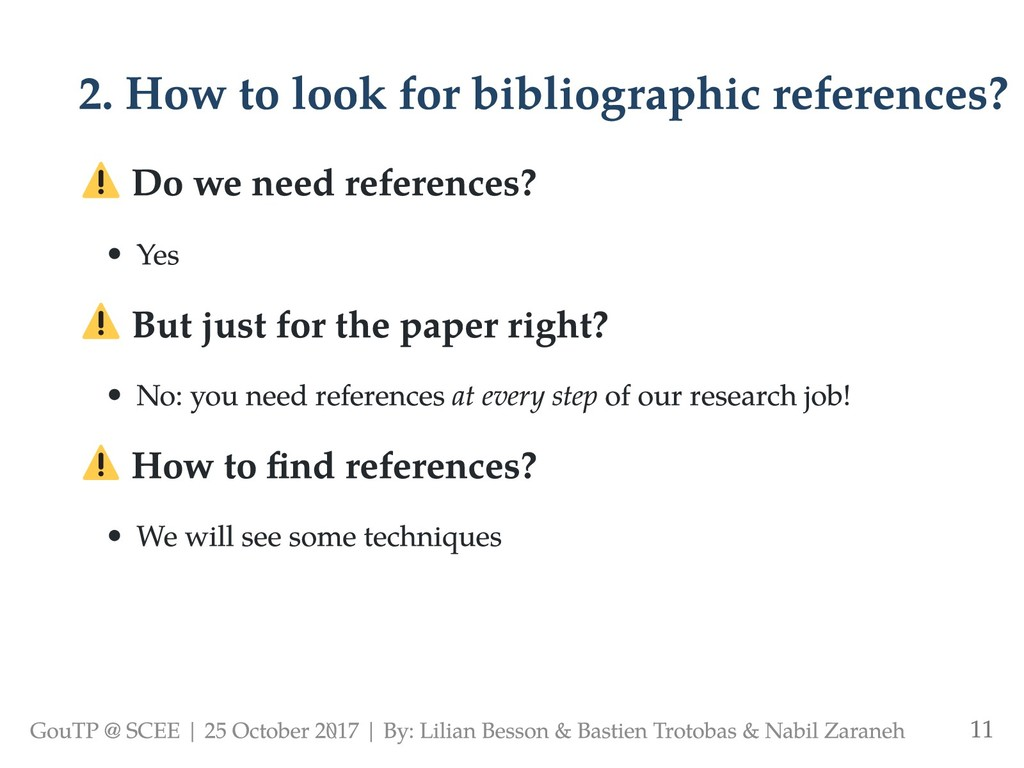 2. How to look for bibliographic references? Do...