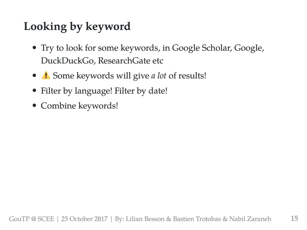 Looking by keyword Try to look for some keyword...