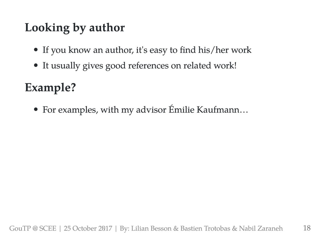 Looking by author If you know an author, it's e...