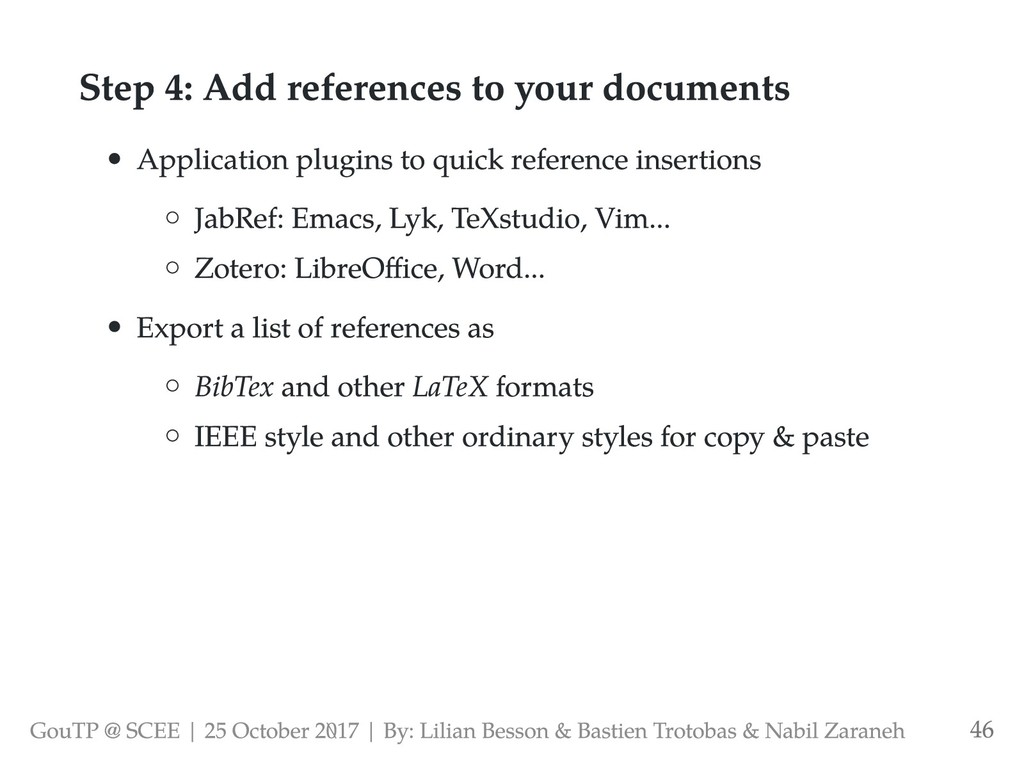 Step 4: Add references to your documents Applic...