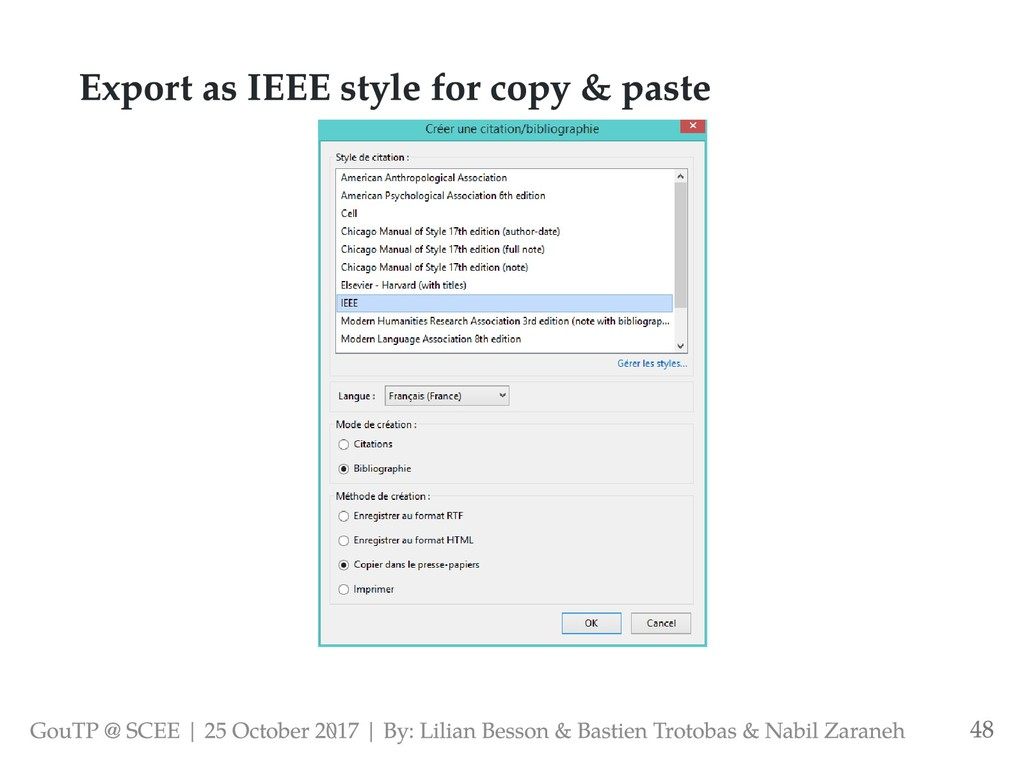 Export as IEEE style for copy & paste GouTP @ S...