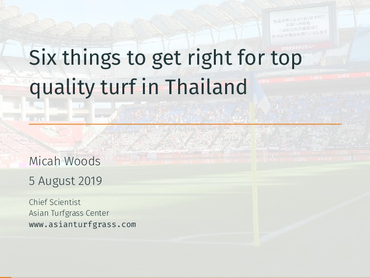 Six things to get right for top quality turf in...