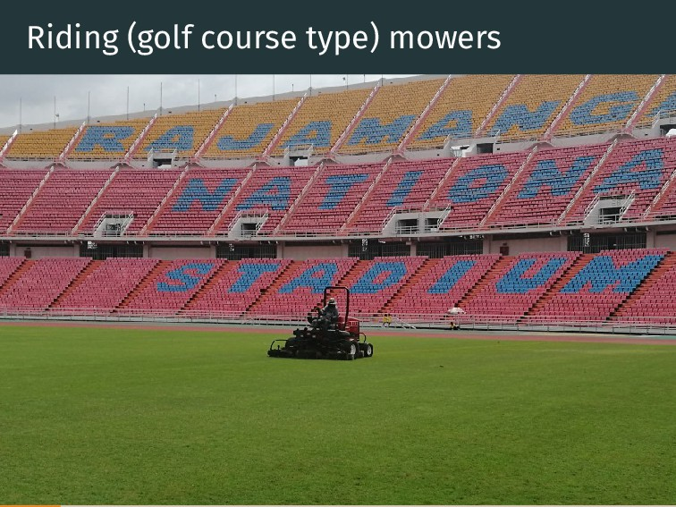 Riding (golf course type) mowers