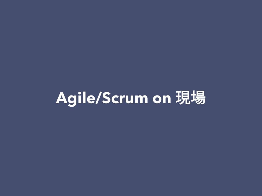 Agile/Scrum on ݱ