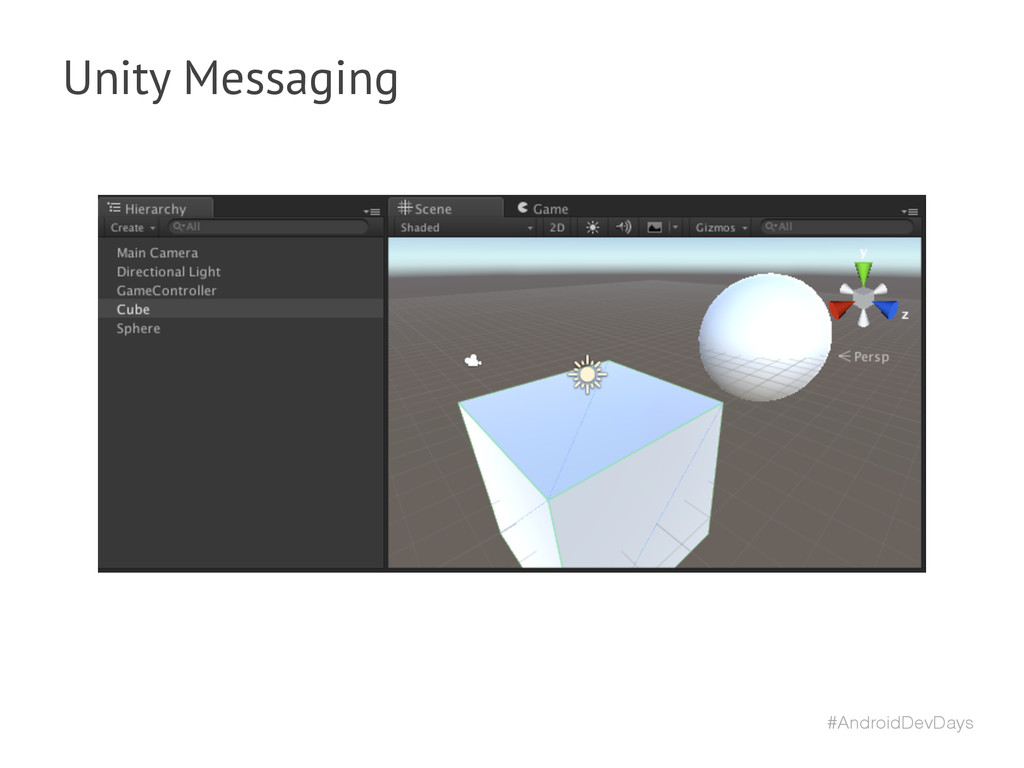 #AndroidDevDays Unity Messaging