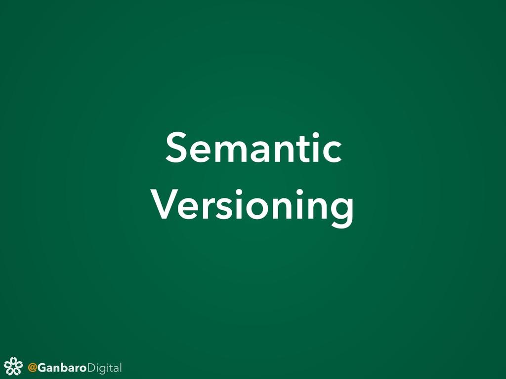 @GanbaroDigital Semantic Versioning