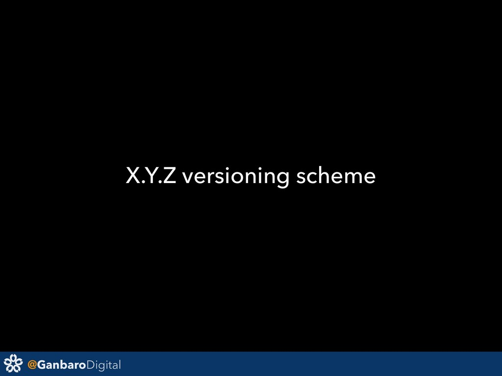 @GanbaroDigital X.Y.Z versioning scheme