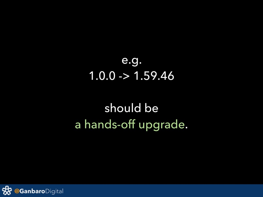 @GanbaroDigital e.g. 1.0.0 -> 1.59.46 should be...