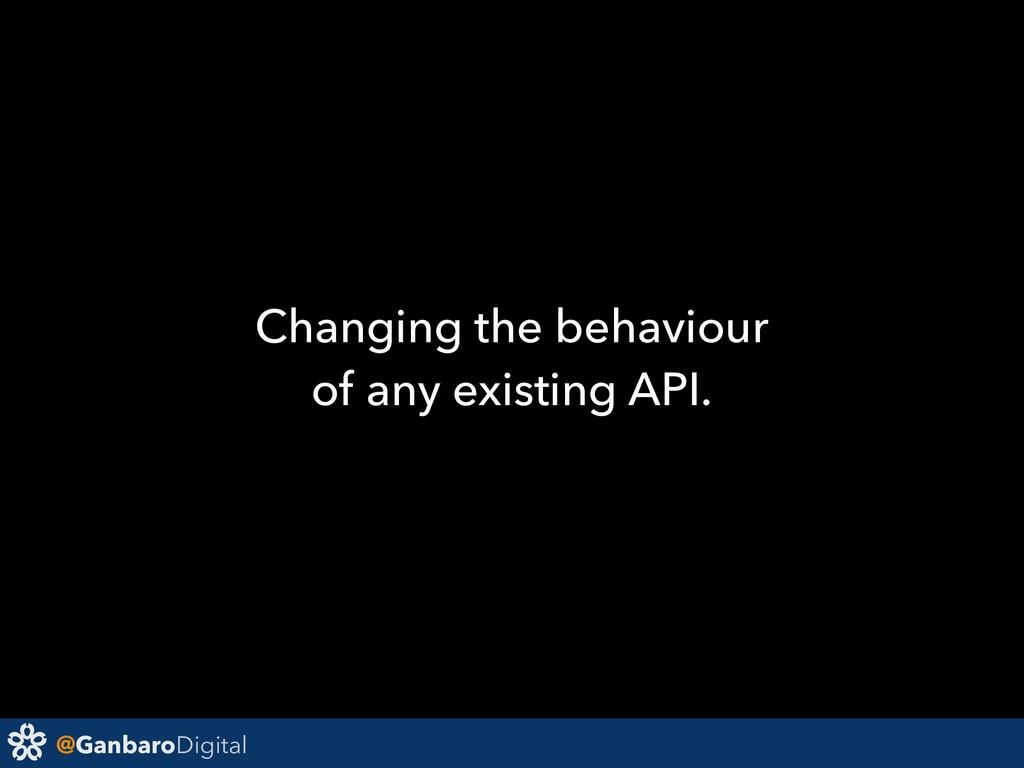 @GanbaroDigital Changing the behaviour of any e...