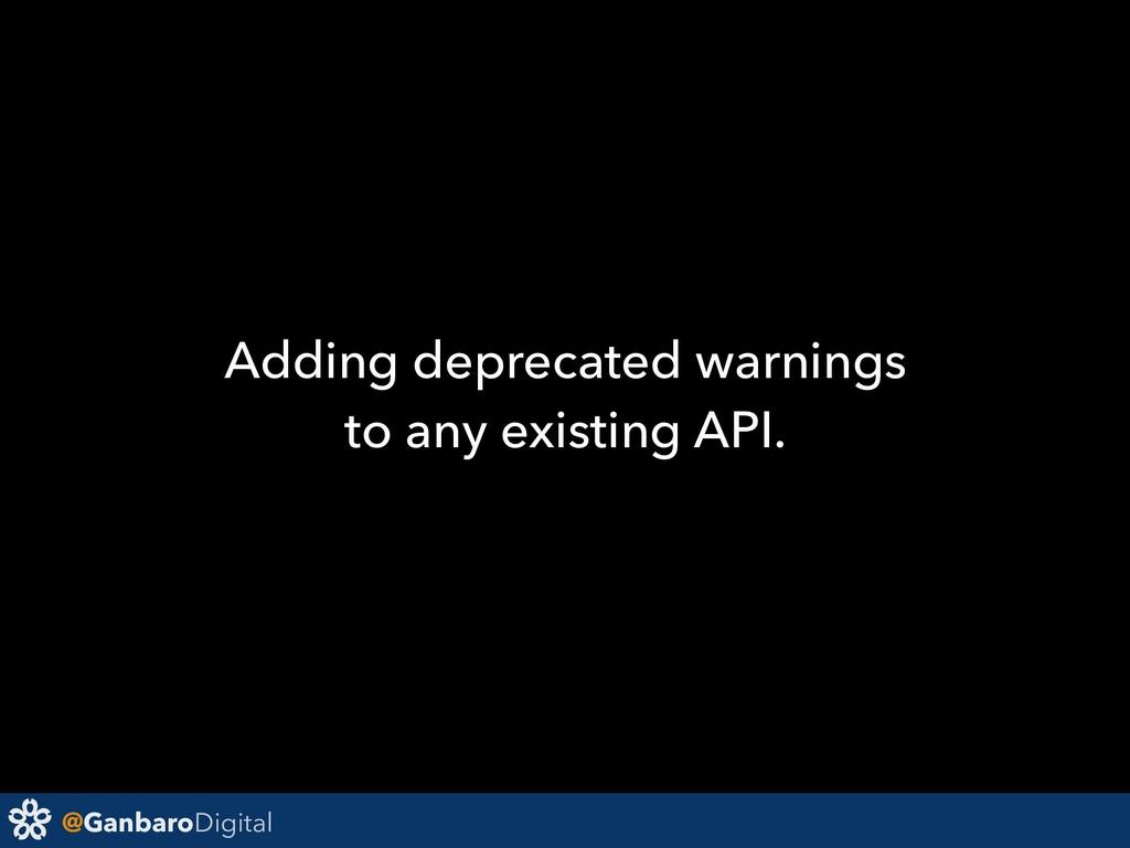 @GanbaroDigital Adding deprecated warnings to a...