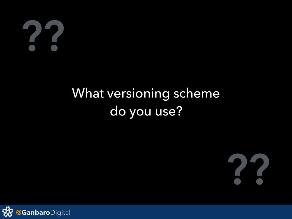 @GanbaroDigital ?? ?? What versioning scheme do...