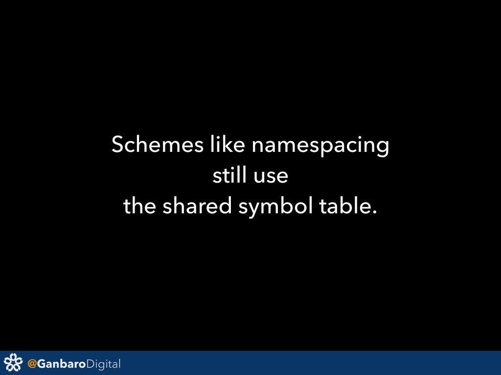 @GanbaroDigital Schemes like namespacing still ...