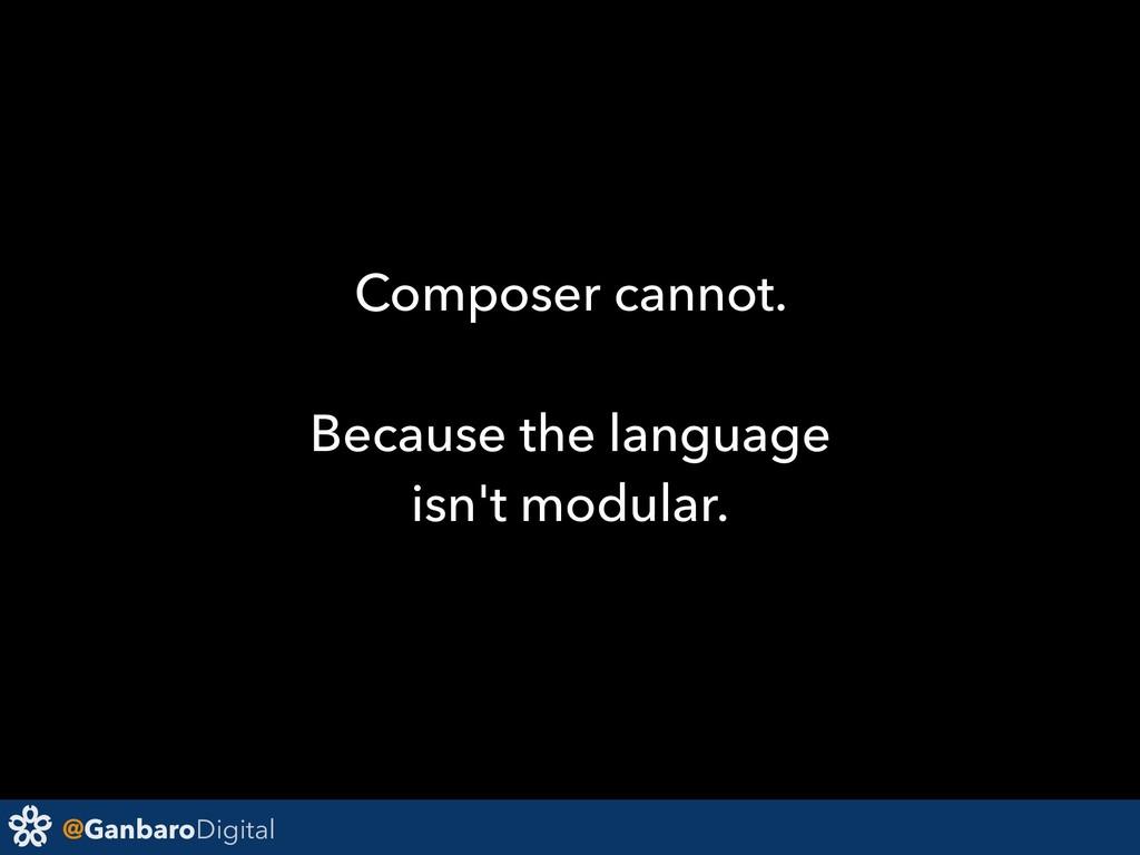 @GanbaroDigital Composer cannot. Because the la...