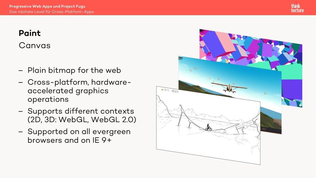 Canvas – Plain bitmap for the web – Cross-platf...