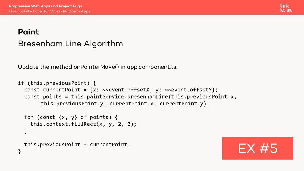Bresenham Line Algorithm Update the method onPo...