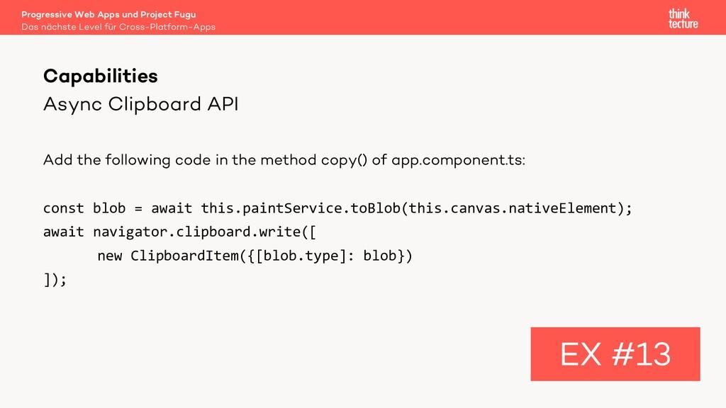 Async Clipboard API Add the following code in t...