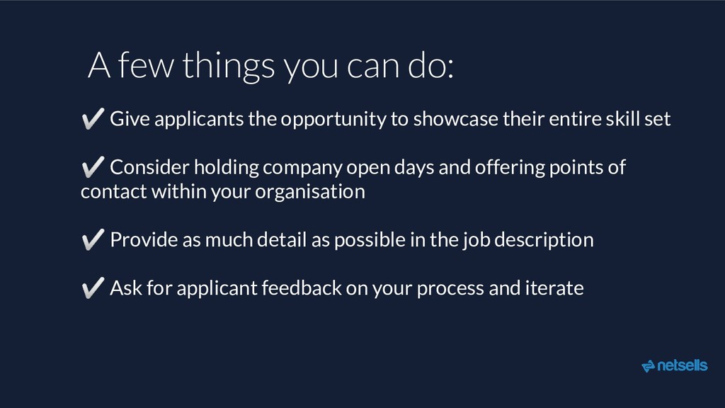 ✅ Give applicants the opportunity to showcase t...