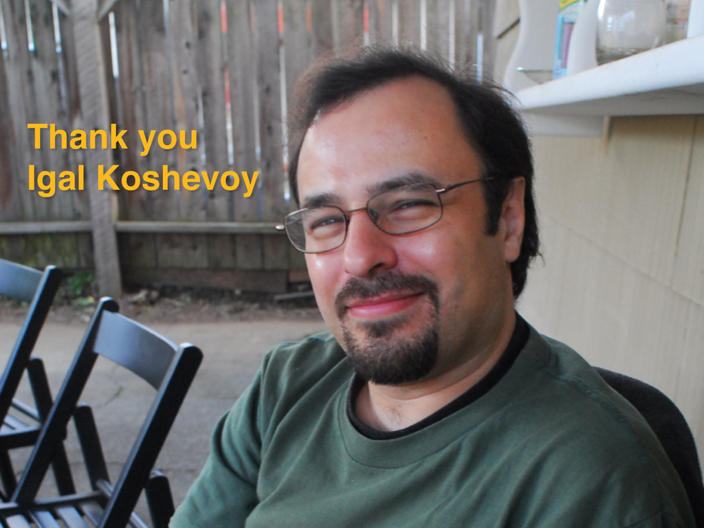 Thank you Igal Koshevoy