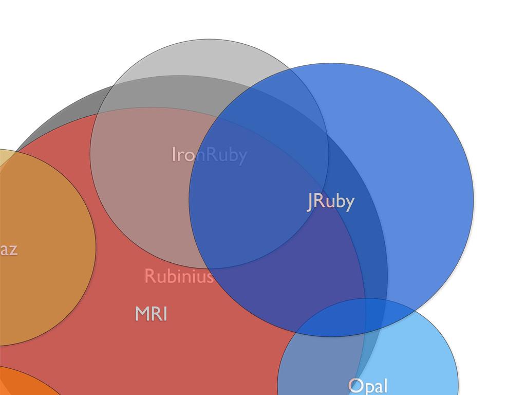 Rubinius MRI Opal paz IronRuby JRuby