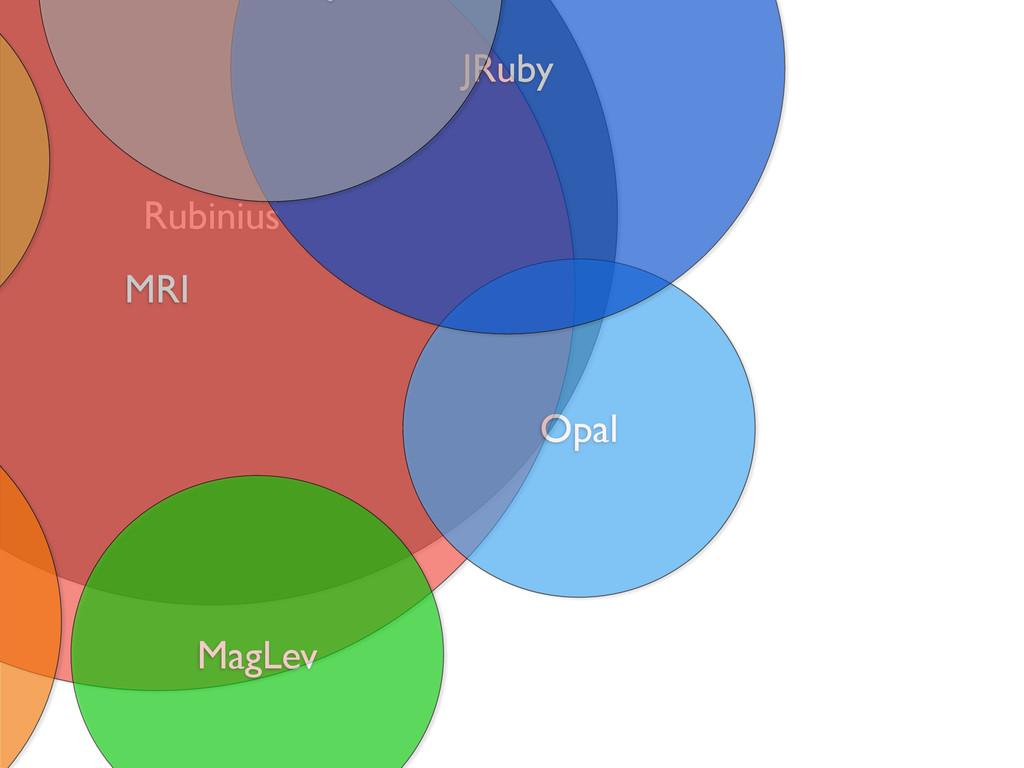 Rubinius MRI Opal MagLev JRuby