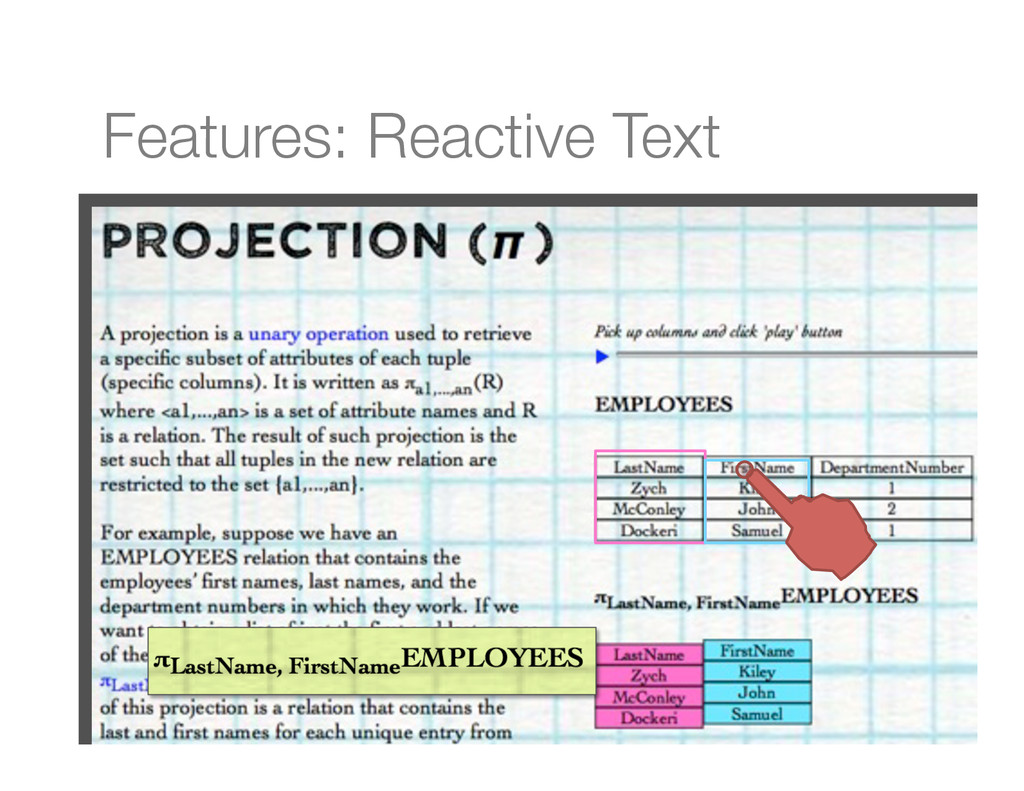 Features: Reactive Text