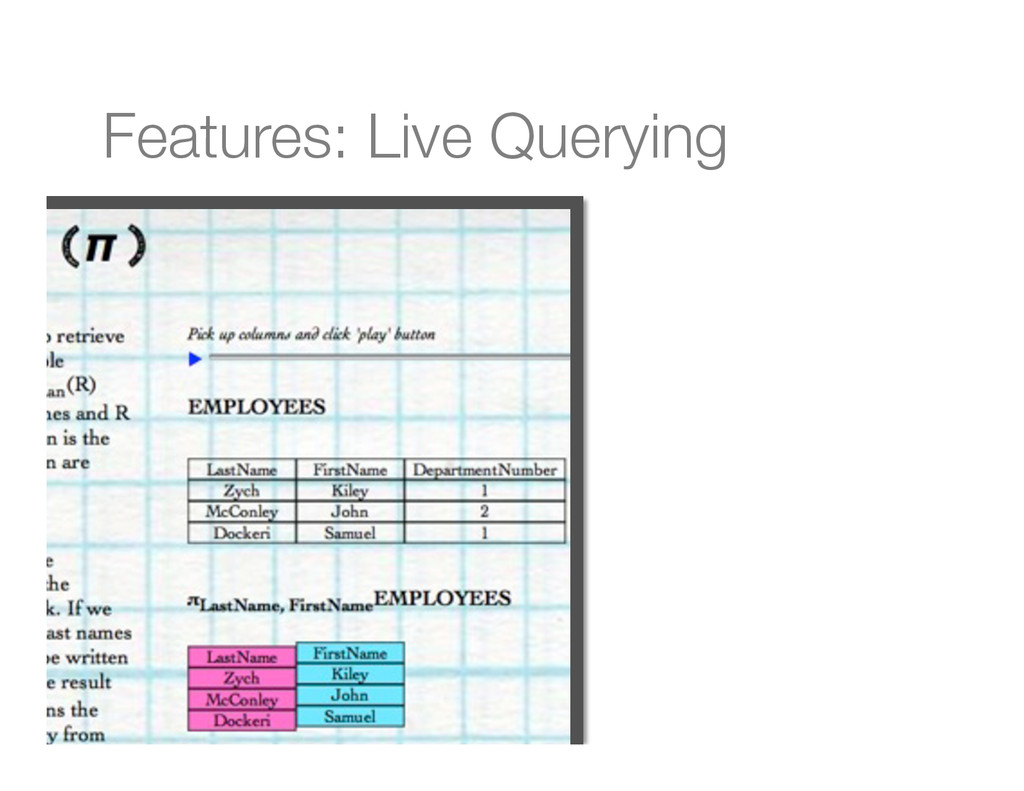 Features: Live Querying