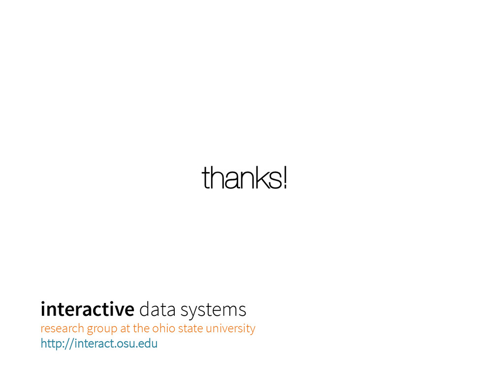 thanks! interactive data systems research grou...