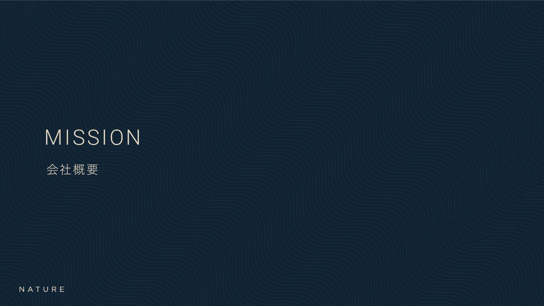 MISSION ձࣾ֓ཁ