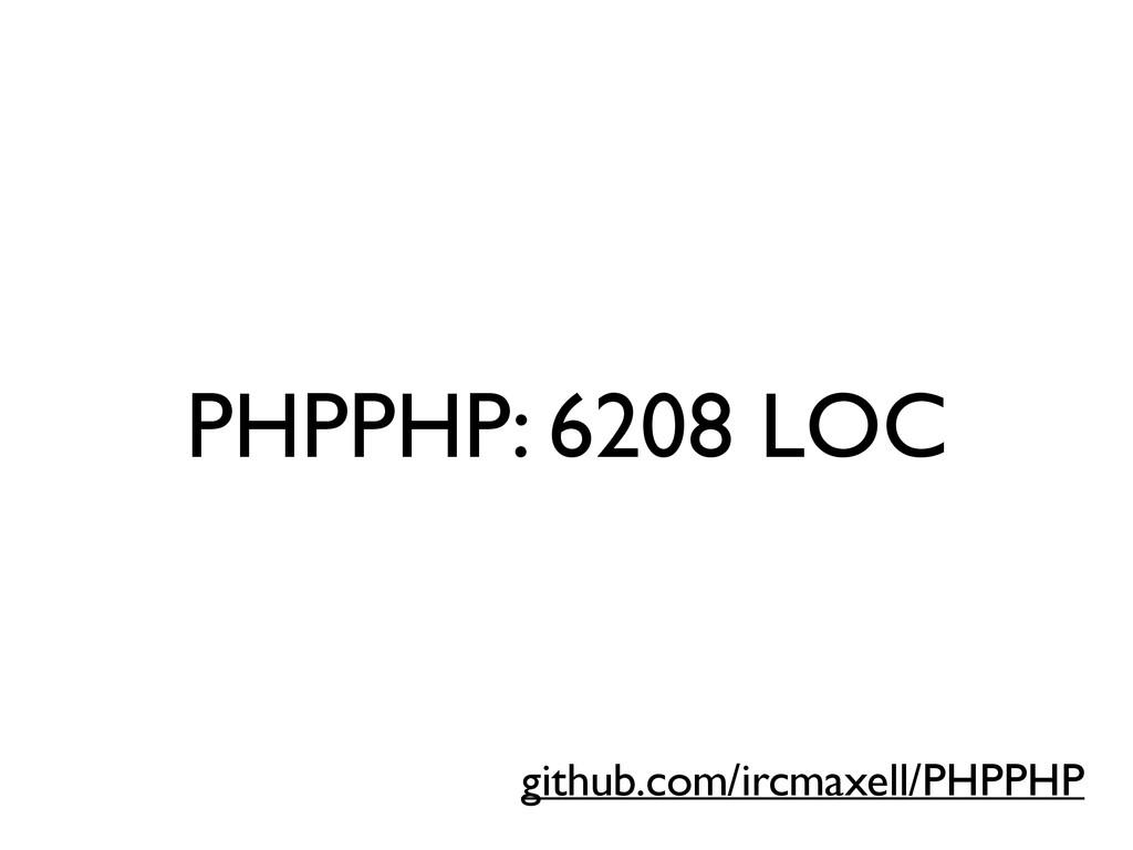 PHPPHP: 6208 LOC github.com/ircmaxell/PHPPHP