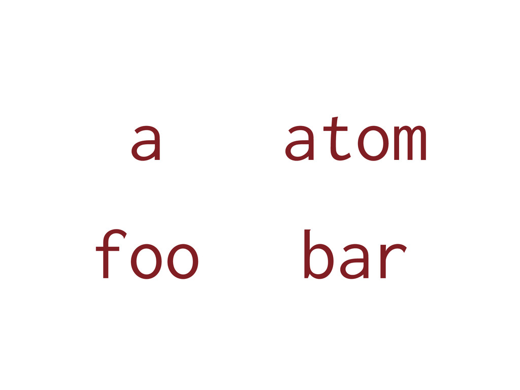 a bar foo atom