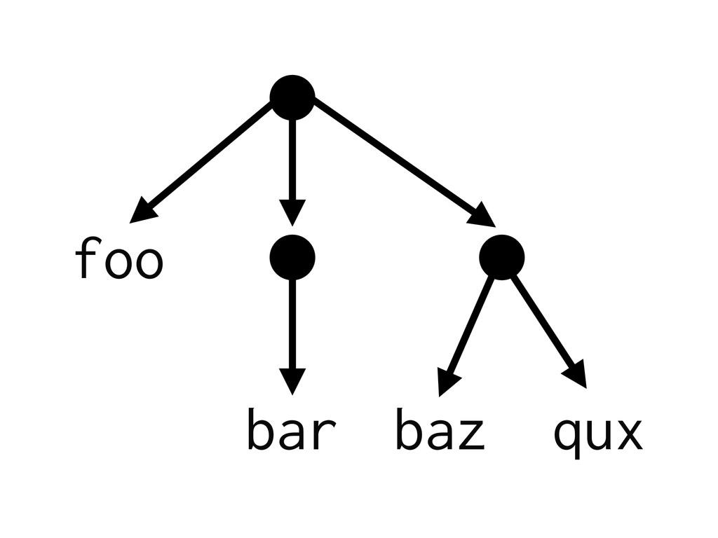foo bar baz qux